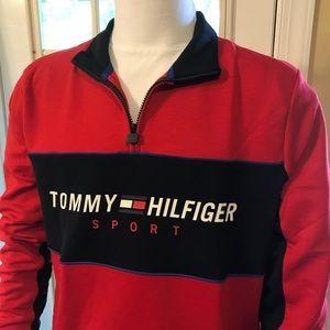 TOMMY HILFIGER 1/4 Zip Mock Neck Pullover